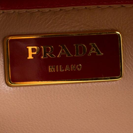 Prada Patent Leather Top Handle Satchel in Red Image 5