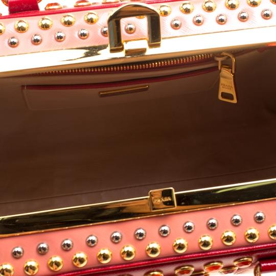 Prada Patent Leather Top Handle Satchel in Red Image 6
