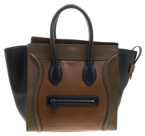 celine Leather Tote in Multicolor