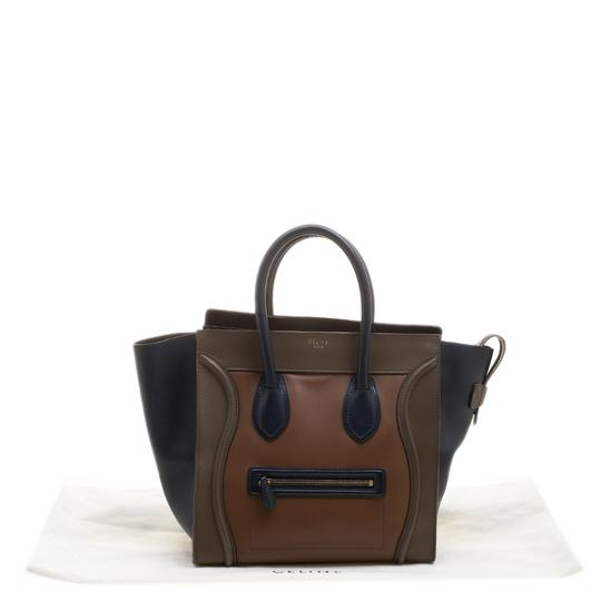 celine Leather Tote in Multicolor Image 10