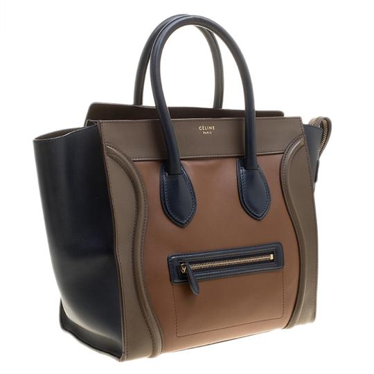 celine Leather Tote in Multicolor Image 3