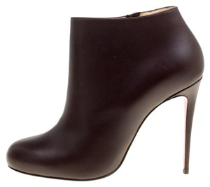 Christian Louboutin Leather Ankle Brown Boots