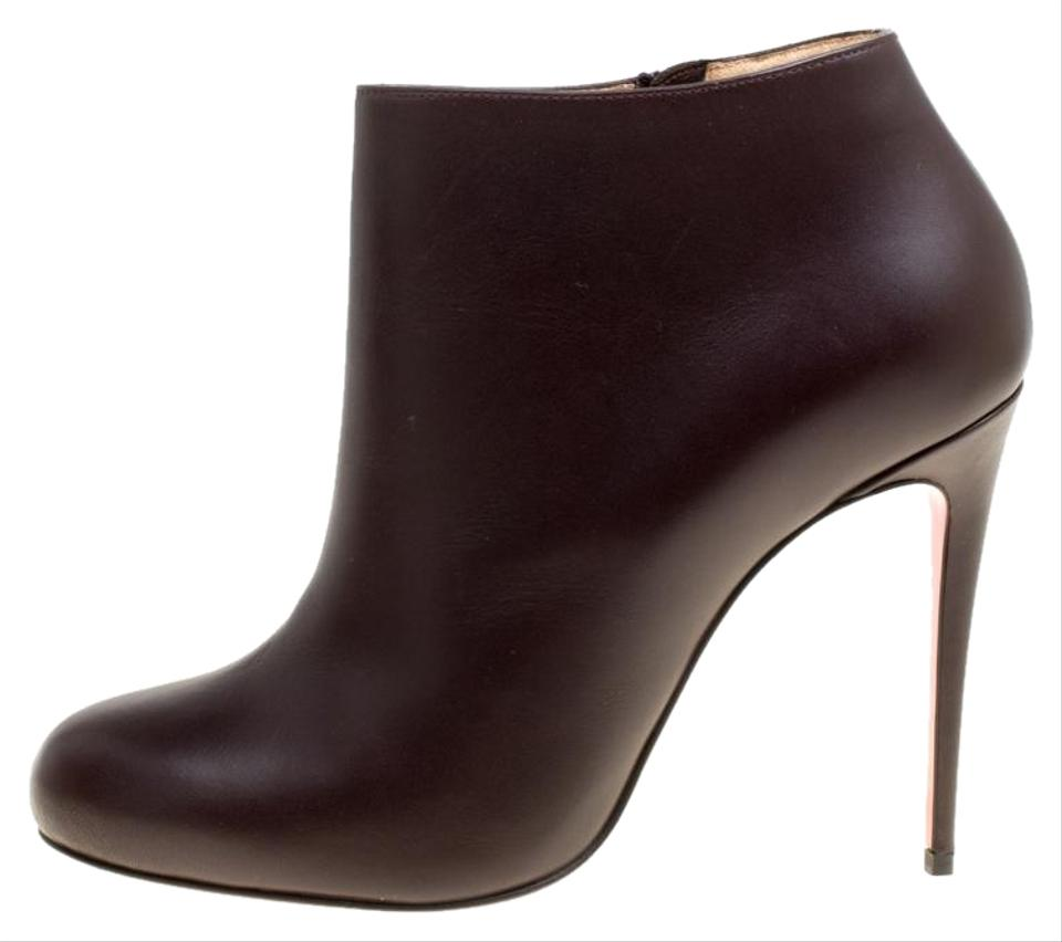 best website fc302 85334 Christian Louboutin Brown Dark Leather Belle Ankle Boots/Booties Size EU 37  (Approx. US 7) Regular (M, B)