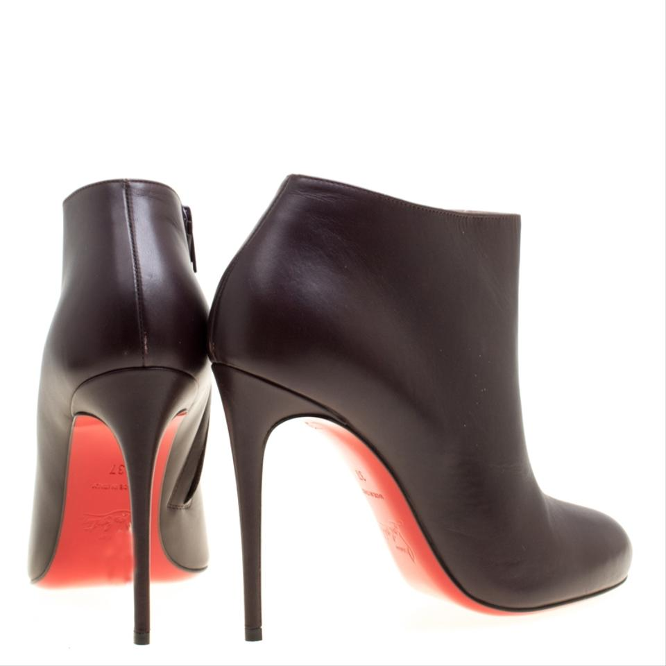 best website 481d9 45289 Christian Louboutin Brown Dark Leather Belle Ankle Boots/Booties Size EU 37  (Approx. US 7) Regular (M, B)