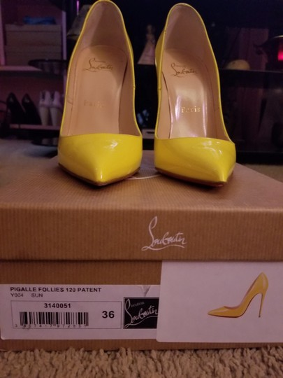 Christian Louboutin Sun Yellow Pumps Image 0