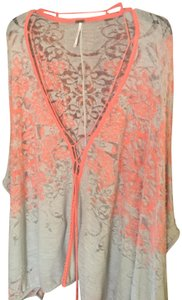 Free People Kimono Cape Distressed Cover Up Sweater