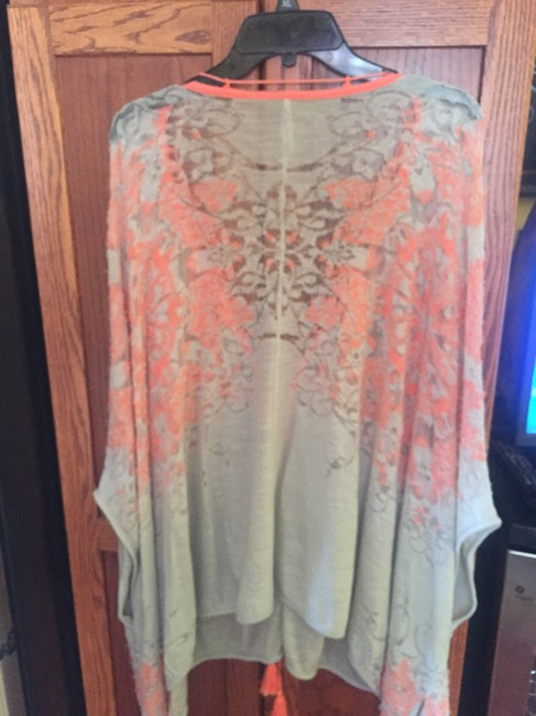 Free People Kimono Cape Distressed Cover Up Sweater Image 1