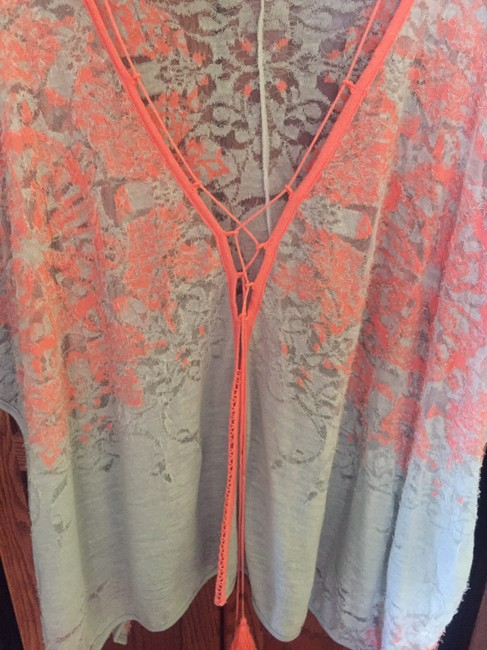 Free People Kimono Cape Distressed Cover Up Sweater Image 4
