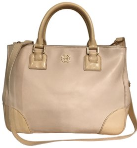 Tory Burch Purse Handbag Tote Shoulder Cross Body Satchel in White beige