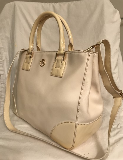 Tory Burch Purse Handbag Tote Shoulder Cross Body Satchel in White beige Image 1