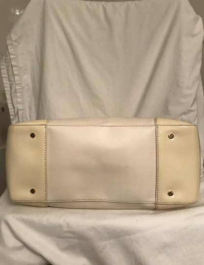 Tory Burch Purse Handbag Tote Shoulder Cross Body Satchel in White beige Image 5