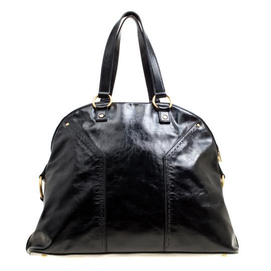 Saint Laurent Leather Muse Satchel in Black Image 1