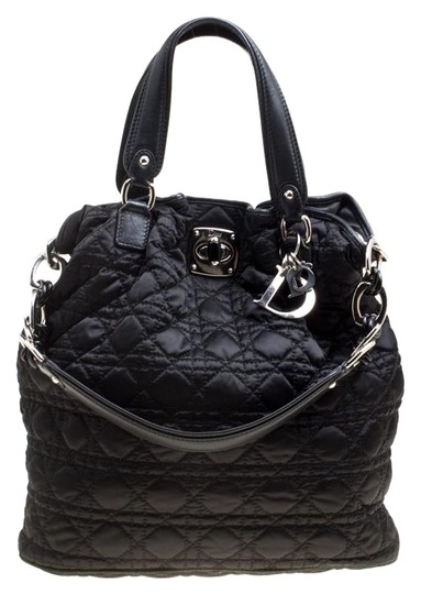Dior Nylon Cannage Tote in Black Image 0