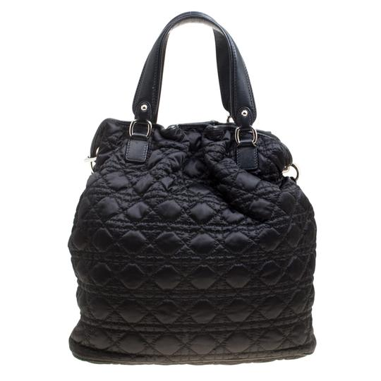 Dior Nylon Cannage Tote in Black Image 1