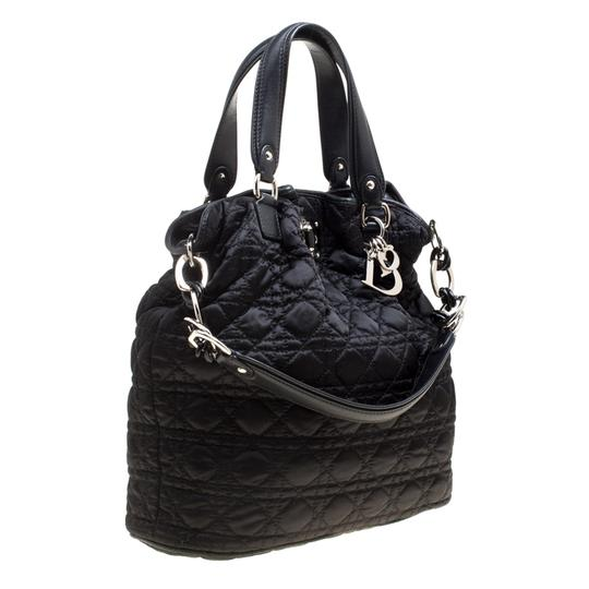 Dior Nylon Cannage Tote in Black Image 3