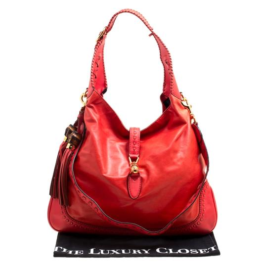 Gucci Leather Jackie Shoulder Bag Image 9