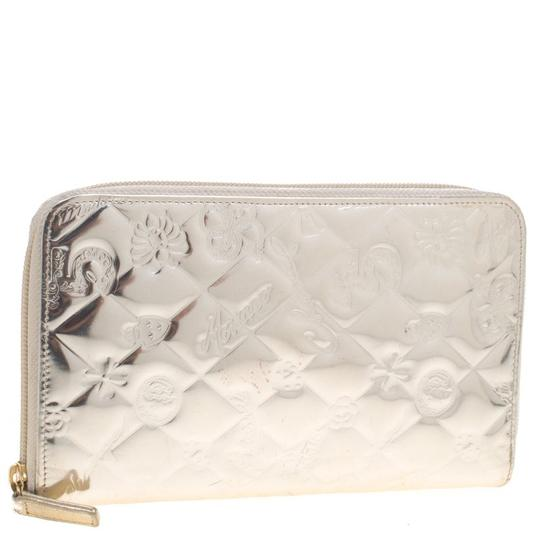 Chanel Gold Patent Leather Lucky Symbols Zip Around Wallet Image 3