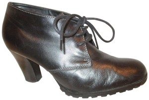 Audrey Brooke Leather Ankle Sasha 002onm black Boots