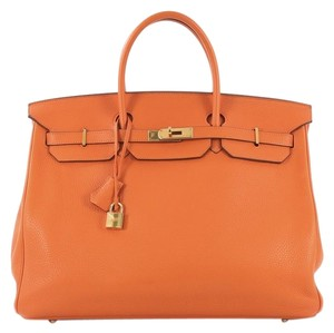 Hermès Birkin Clemence Satchel in Orange