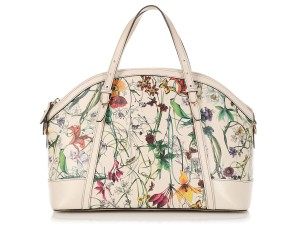 090a232a5 Gucci Gc.q0424.07 Floral Print White Gold Hardware Satchel in Multicolor