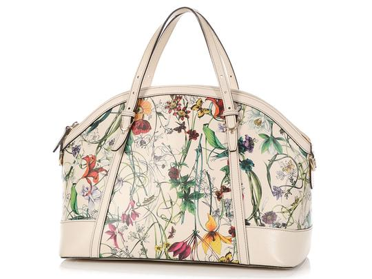Gucci Gc.q0424.07 Floral Print Gold Hardware Reduced Price Satchel in Multicolor Image 1