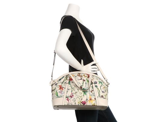 Gucci Gc.q0424.07 Floral Print Gold Hardware Reduced Price Satchel in Multicolor Image 10