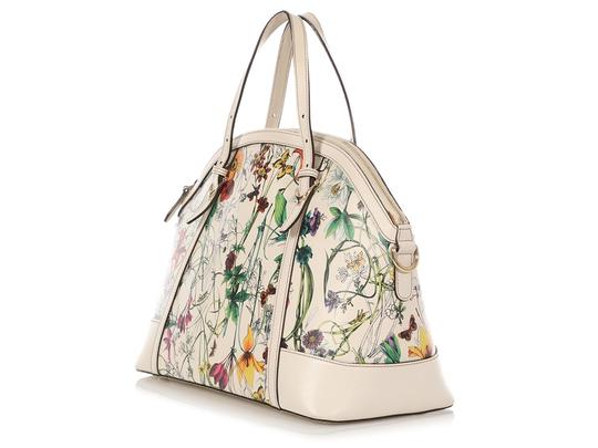 Gucci Gc.q0424.07 Floral Print Gold Hardware Reduced Price Satchel in Multicolor Image 2