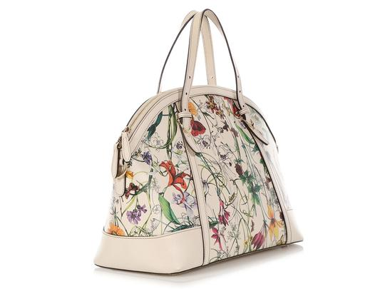 Gucci Gc.q0424.07 Floral Print Gold Hardware Reduced Price Satchel in Multicolor Image 4