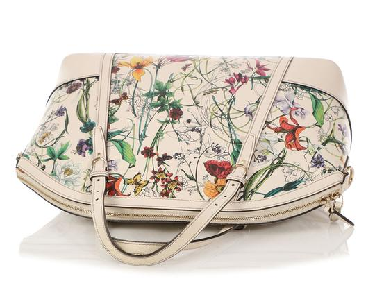 Gucci Gc.q0424.07 Floral Print Gold Hardware Reduced Price Satchel in Multicolor Image 6