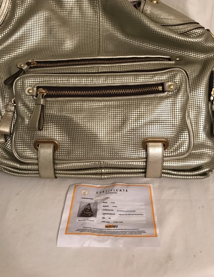 Coach Purse Handbag Shoulder Satchel Weekend/Travel Tote in Gold Image 11