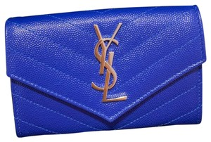 Saint Laurent Wristlet in Blue
