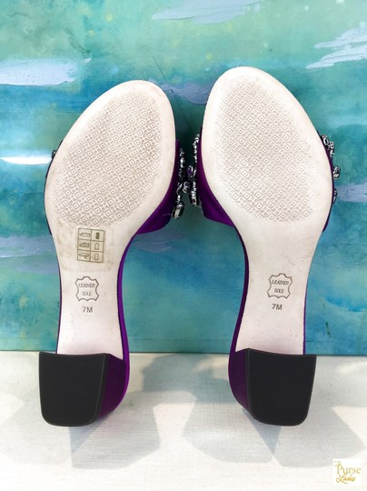 Tory Burch Beverly Crystal Purple Sandals Image 11