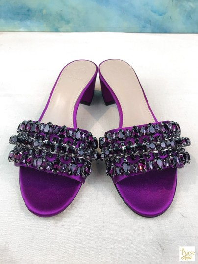 Tory Burch Beverly Crystal Purple Sandals Image 3