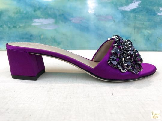 Tory Burch Beverly Crystal Purple Sandals Image 5