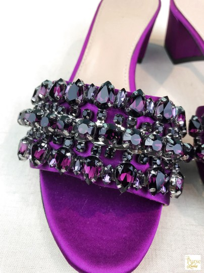 Tory Burch Beverly Crystal Purple Sandals Image 7