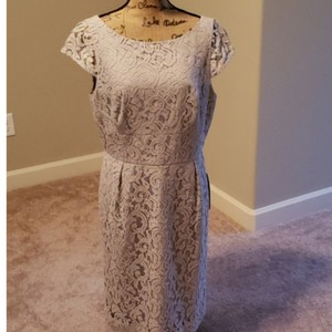 J.Crew Gray A6005 Traditional Bridesmaid/Mob Dress Size 12 (L)