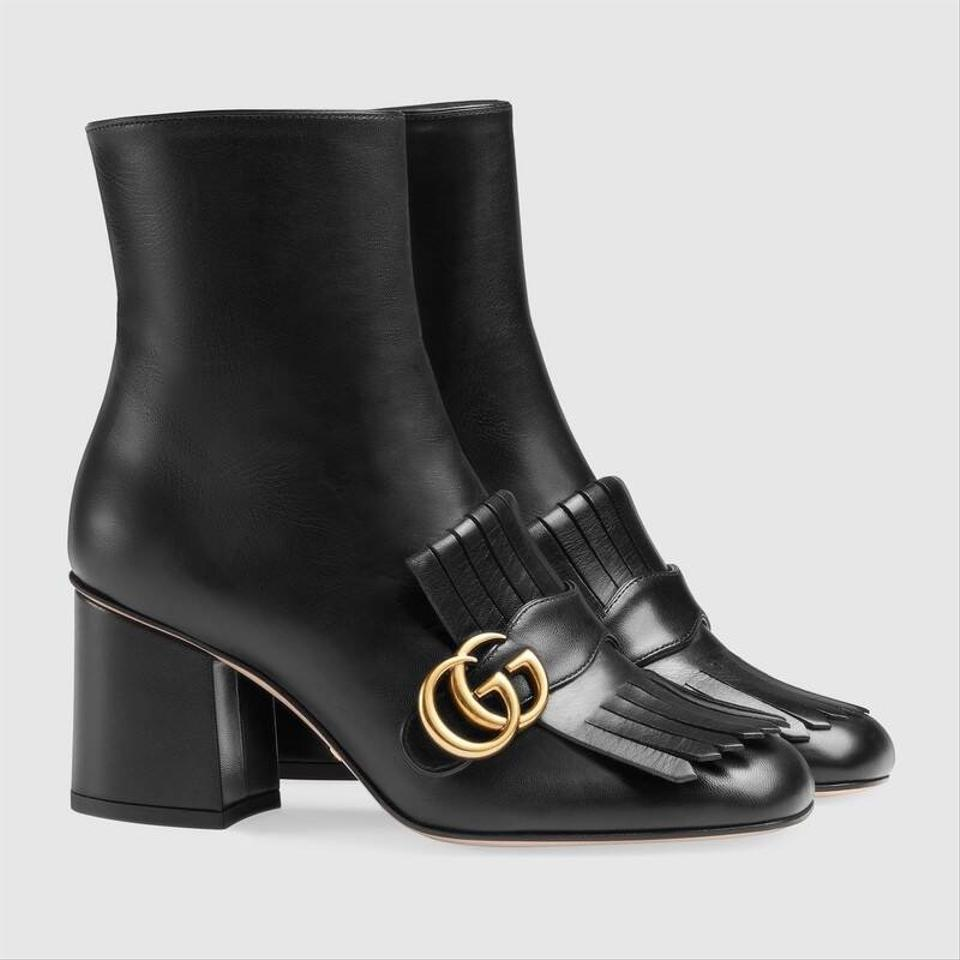 2c679359f7 Gucci Marmont Double G Leather Boots/Booties Size EU 38.5 (Approx ...