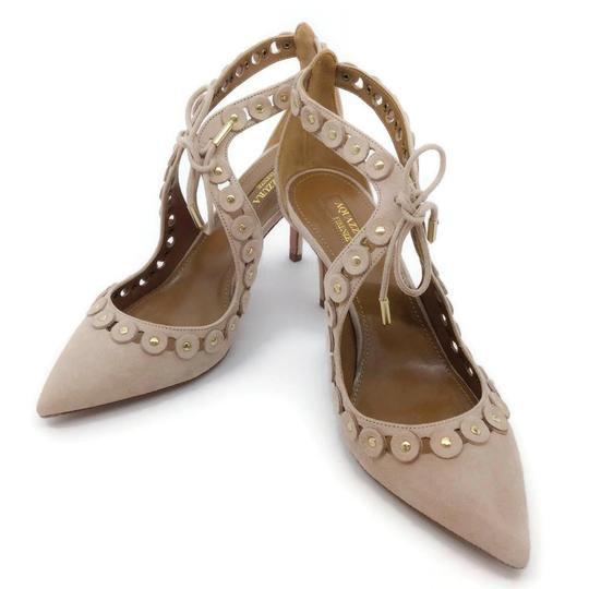 Aquazzura Blush Suede Pumps Image 5
