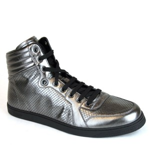 Gucci Metallic Silver Coda Leather High-top Sneaker 7g/Us 7.5 322730 1140 Shoes