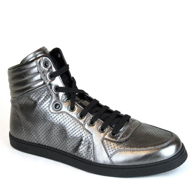 Item - Metallic Silver Coda Leather High-top Sneaker 7g/Us 7.5 322730 1140 Shoes