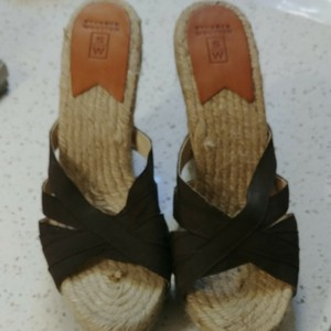 Stubbs & Wootton Brown canvas upper.tan lower. No box. Euro size 40 Wedges