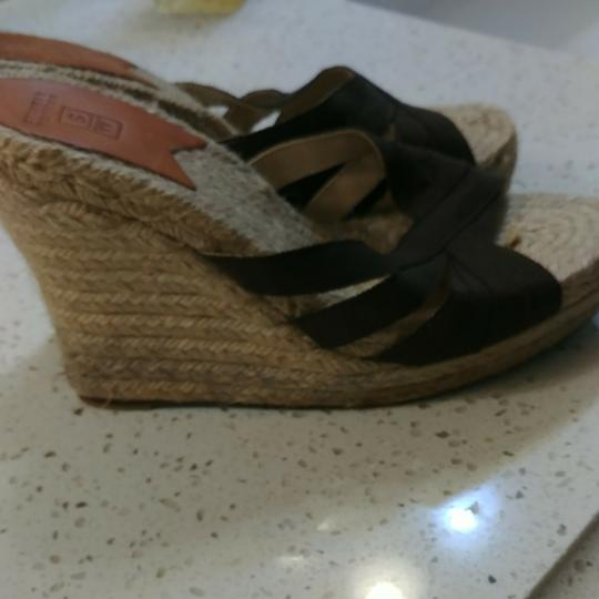 Stubbs & Wootton Brown canvas upper.tan lower. No box. Euro size 40 Wedges Image 4