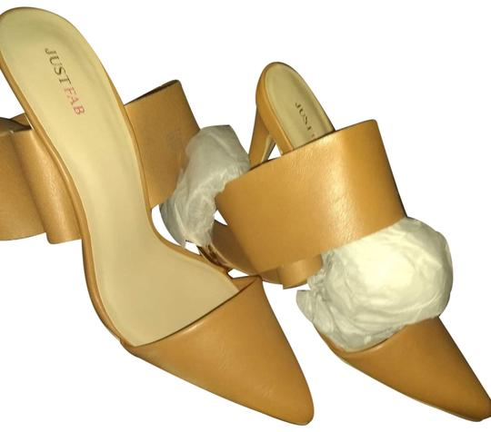 JustFab Tan Pumps Image 0