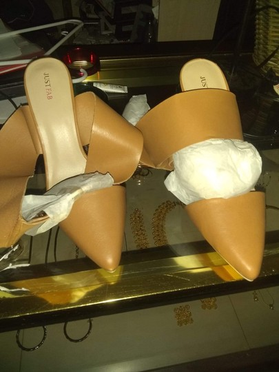 JustFab Tan Pumps Image 1