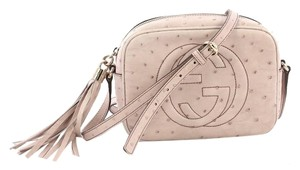 Gucci Ostrich Cross Body Bag