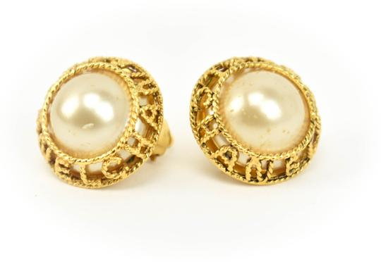 Preload https://img-static.tradesy.com/item/25494463/chanel-gold-plated-metal-pearl-and-logo-qz-earrings-0-0-540-540.jpg