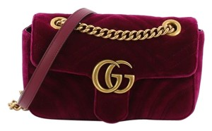 Gucci Velvet Cross Body Bag