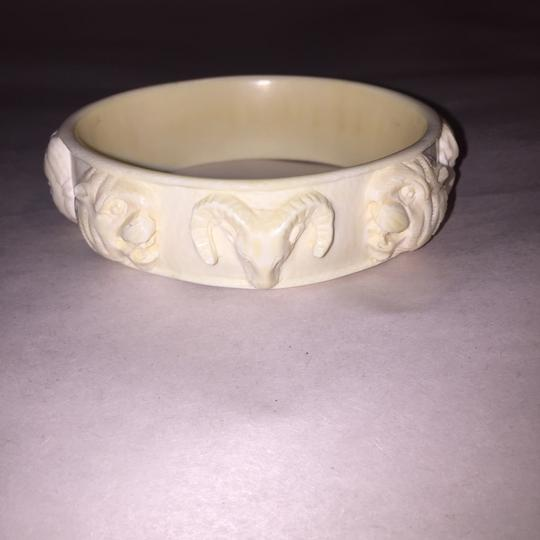 Unique Vintage ANTIQUE pre-ban Ivory CIRCUS/faces BRACELET LARGE SIZE Image 4