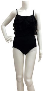 Great Lengths Great Lengths One piece Black Ruffle Bathing Suit