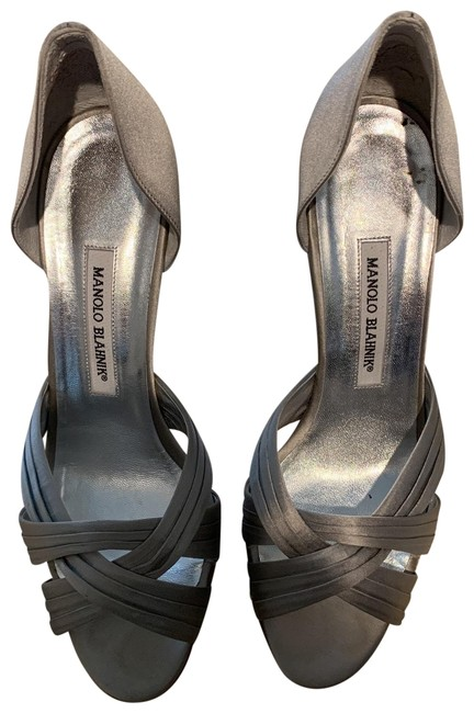 Item - Silver Satin Weave Hh Dorsay Formal Shoes Size EU 40 (Approx. US 10) Regular (M, B)
